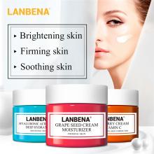 LANBENA Face Cream VC Whitening Hyaluronic Acid Moisturizing Grape Seed Anti-aging Firming Hydration Facial Serum Skin Care F0