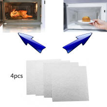 4pcs 13*13cm Universal Microwave Oven Mica Plate Sheet Microwave Oven Repairing Part Home Appliances Parts