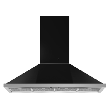 Smeg Cooker Hood Black Stainless