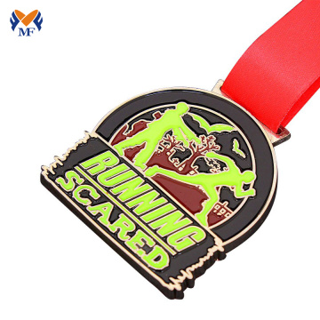 Soft enamel and hard enamel custom race medals