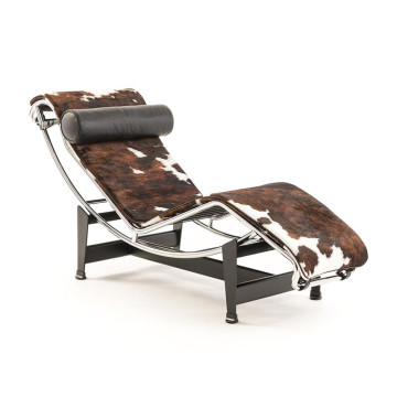 Cassina Le Corbusier LC4 chaise longue pony leather