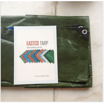 green tarpaulin sample with catalugue