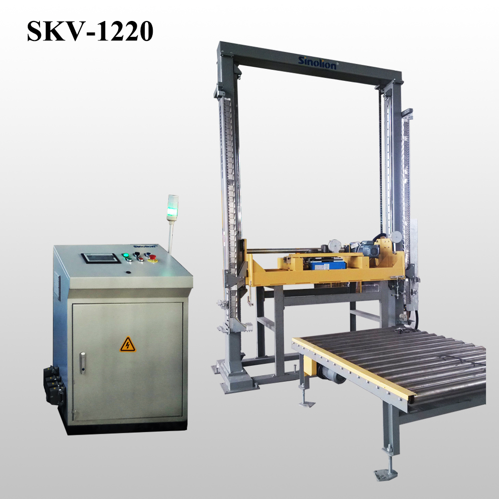Vertical pallet Strapping machine