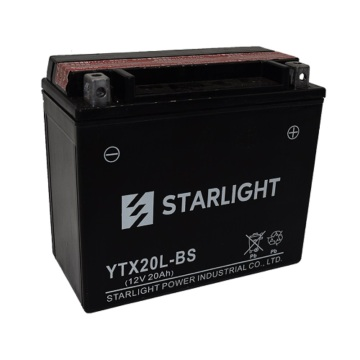 12V20ah Maintenance Free Motorcycle Batteries YTX20L-BS