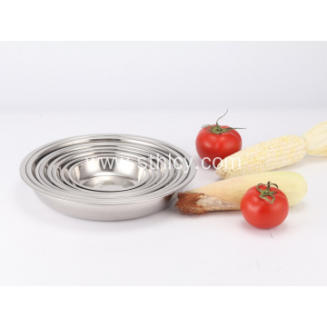 201 Stainless Steel Kitchenware Dinner Plate
