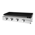 Four Burner Gas Griddle Cooktop
