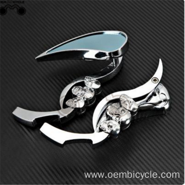 cheap silver aluminum alloy motor bike rearview mirror