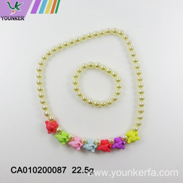 Imitation pearl children's jewelry
