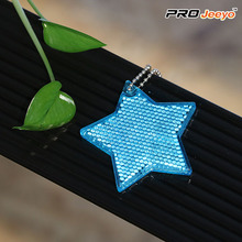 Reflective Safety Star Cartoon Keychain
