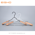 EISHO Adult Metal Coat Hanger With Wood Shoulder
