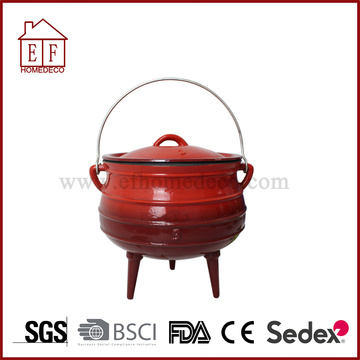 Enamel Cast Iron Potjie Pot Size 3