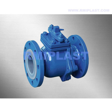 PFA Lined Ball Valve flanged ANSI CL150