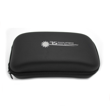 Customized leather portable print logo sunglasses case