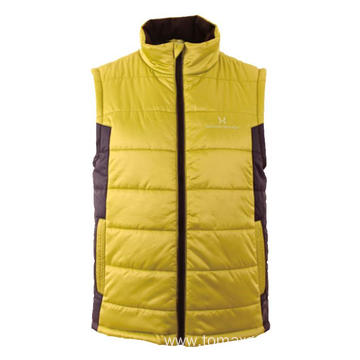 Yellow with black winter Vest