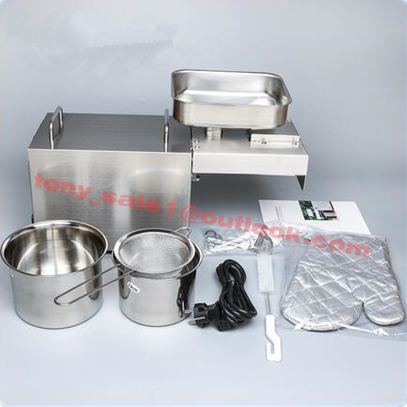 110V/220V Oil Extractor Cold Press High Power 1500W Soybean Oil Press Machine For Screw Press Oil Extraction Machine For Sell