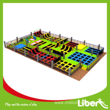 large indoor trampoline park in USA