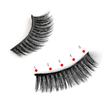 Magnetic eyelashes set with tweezer