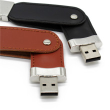 USB flash drive 64gb Llavero metal cuero Pendrive