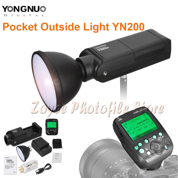 YONGNUO YN200 Flash Light TTL HSS 2.4G 200W Battery with USB Type C Compatible YN560-TX (II)/YN560-TX Pro/YN862 for Canon Camera