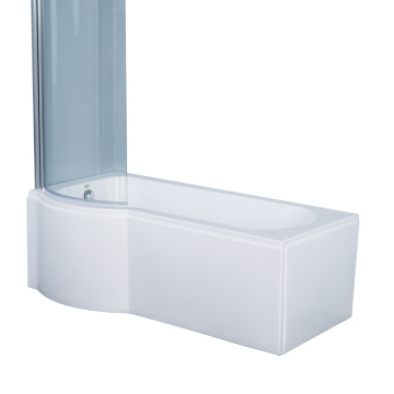 Corner Soaking Bath Tub with Shower