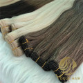 Thickness end machine weft hair extenisons