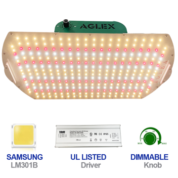 Aglex K2000 Dimmable LED Grow Light For Greenhouse