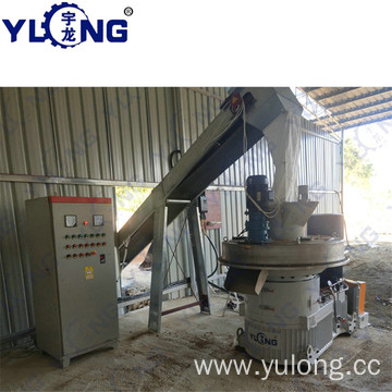 Birch wood pellet machine