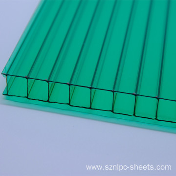 Green Double Layers Polycarboante Hollow Sheet