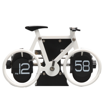 Bike table clock with silent movement