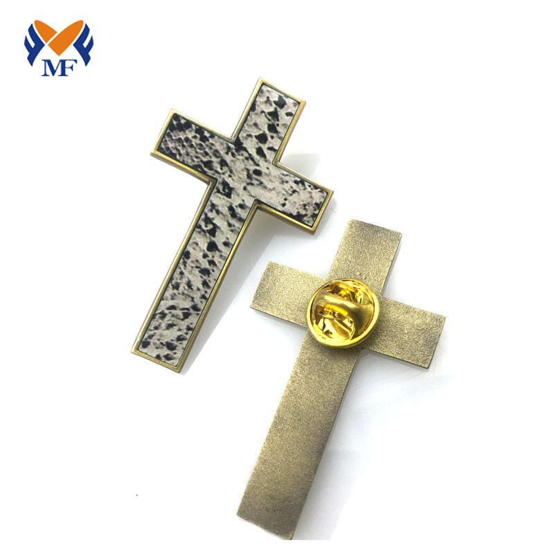 Metal Cross Badge