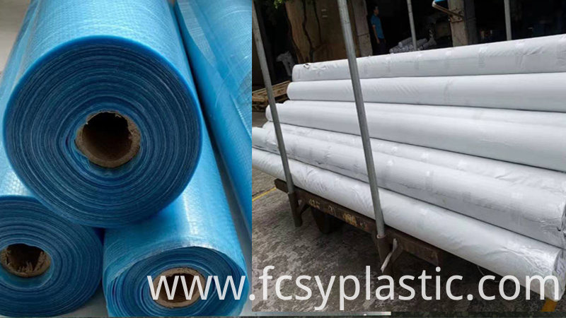 blue woven film packing