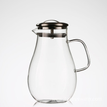 Hot selling Beverage Glass Pitcher with Stainless Steel Lid