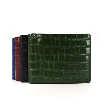 New Arrival Mens Unisex Handmade Crocodile Leather Wallet