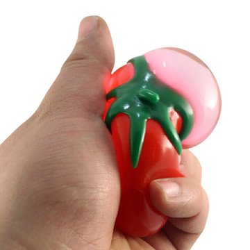 Stress Relief Toys Novelty Toy Anti Stress Ball Fun Splat Egg Venting Simulation Fruit Food Tomato Shaped Tomato Water Ball Toys