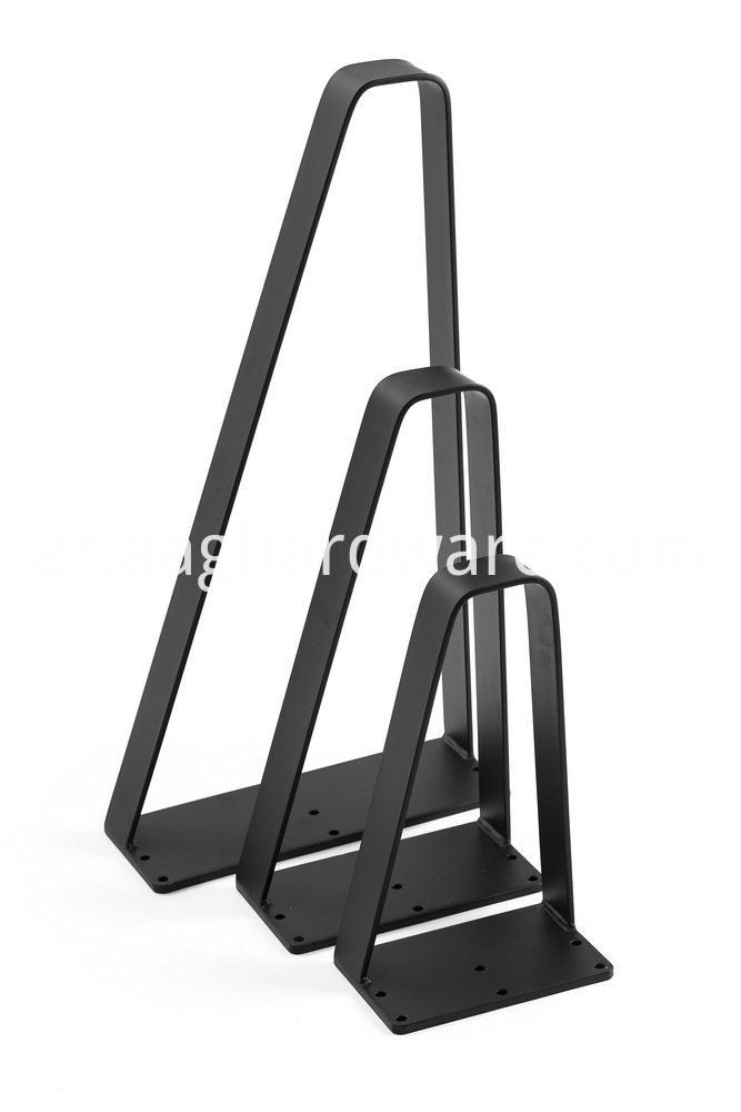 Industrial Heavy Duty Black Metal Hairpin Legs