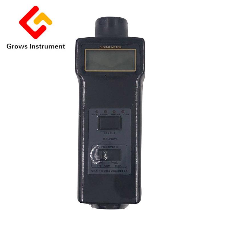 MC-7821 Grain Moisture Meter Tester Range 8~20% Moisture Temperature Meter LCD Digital Can Measure for Hay Oat Wheat