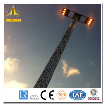 Steel HDG High Mast Lamp Poles