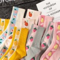 Cute Fresh Fruit Funny Socks Kawaii Peach Strawberry Pear Pineapple Sweet Socks Women College Style Harajuku Sokken Skarpetki