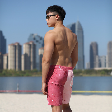 190GSM Quick Dye Full Elastic Man′s Swimshort