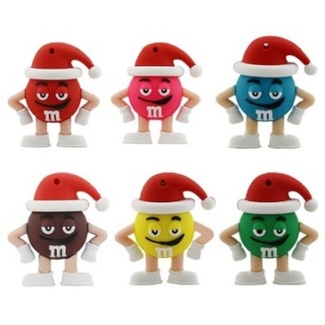 Cute M&M Rainbow Beans Usb Flash Drive
