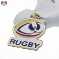 Custom sport metal design rugby medal