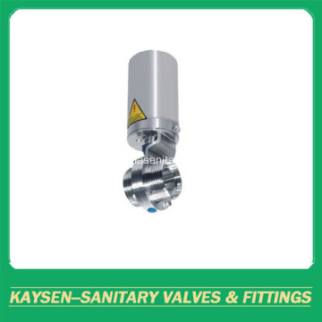 DIN Sanitary Pneumatic Butterfly Valves threaded
