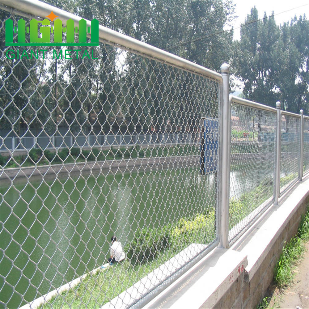 Galvanized Woven Removable Chain Link Fence