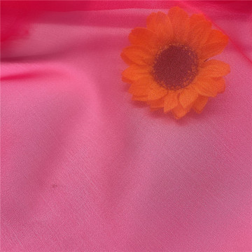 Sparkle Organza Tulle Fabric Fuschia for Lady Dress