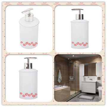 White Bathroom Soap Dispenser