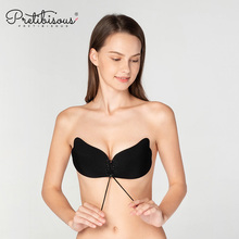 Sexy girls seamless silicone sticky strapless bra