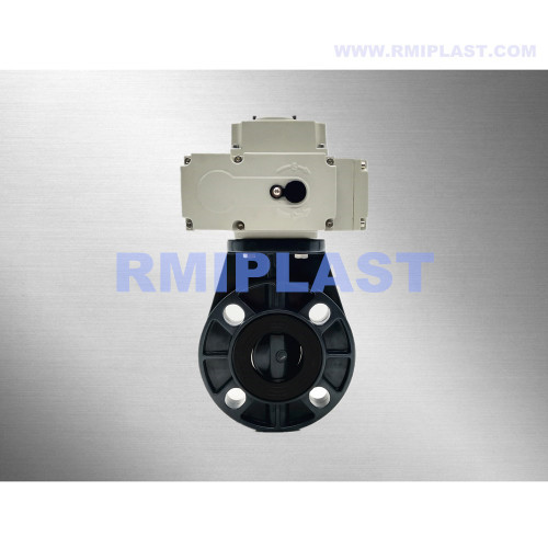 PVC Butterfly Valve Electric Actuated Switch Type