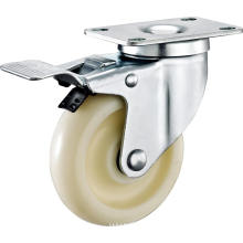 3inch Swivel Round PP Without Cover Casters With Top Brake
