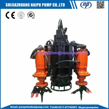 Submersible dredge pump for solid