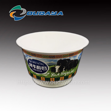 Customized Ice Cream Cup pudding jelly IML Yogurt Cup